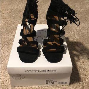 Steve Madden High heel sandals 6.5 black suede